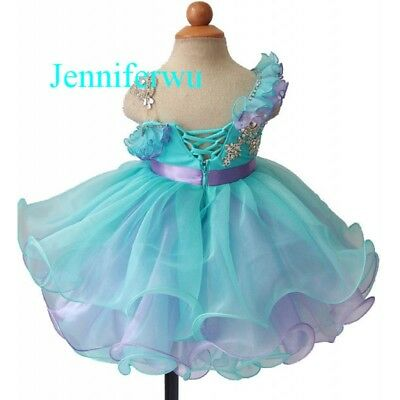 Infant//toddler//kids//baby//children Girl/'s Glitz Pageant Dress 1-6T G153B