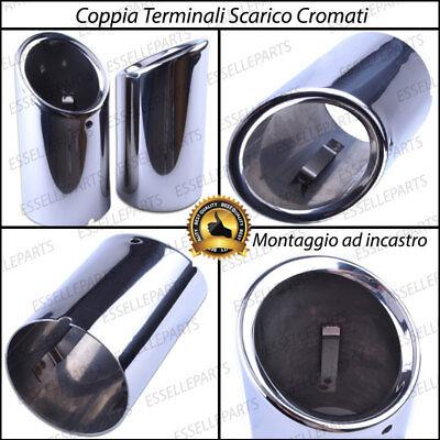 Akozon Terminale di scarico 1 coppia terminale di scarico marmitta in acciaio inossidabile per A4 B8 2007-2014