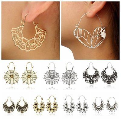 Fashion Bohemia Jewelry Vintage Silver Ear Hook Drop Dangle Tassel Bead Earrings 7