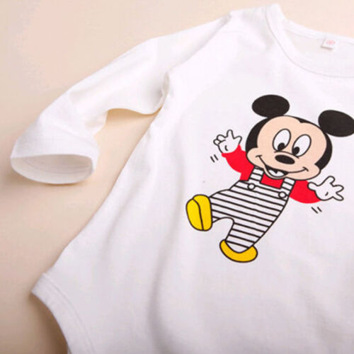 3Pcs Baby Kids Boys Girls Mickey Mouse Romper Pants Bodysuit Clothes Outfit Set 7