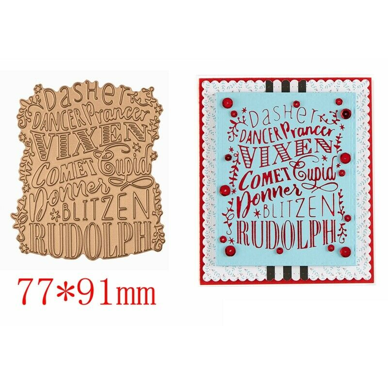 Greetings Wishes Word Hot Foil Plates Dies Stencil Embossing Craft Scrapbooking 11