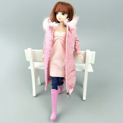 Long Coat Cotton Dress for 11.5in. Doll Clothes Parka For 1/6 BJD Doll Jacket 5