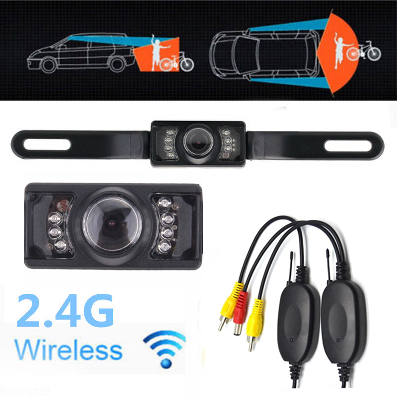 "7"" TFT LCD Car Rear View Monitor+Wireless Parking Night Vision Backup Camera Kit 7"