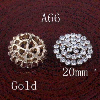... 20PCS Vintage Handmade Flower Rhinestone Buttons Bling Flatback Crystal  Pearl 3 ffd64c3336dd