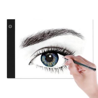Tableta Gráfica Electrónica A4 De Dibujo De Arte Digital USB Luz LED 3 Niveles 4