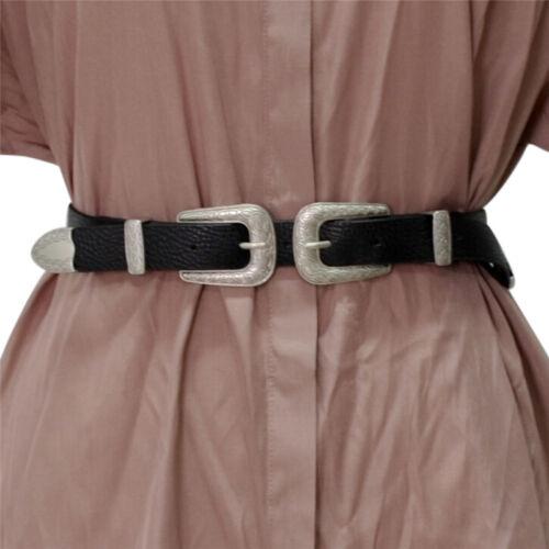 1 sur 4Seulement 2 disponibles ceinture à double boucle en cuir bohème en métal  rétro pour femme C  6c2b7bbae05