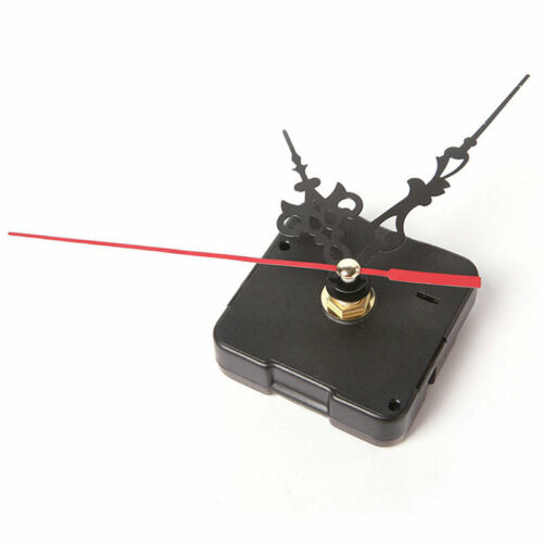 Clock Quartz Movement Mechanism Red and Black Hand DIY Replacement Part Set