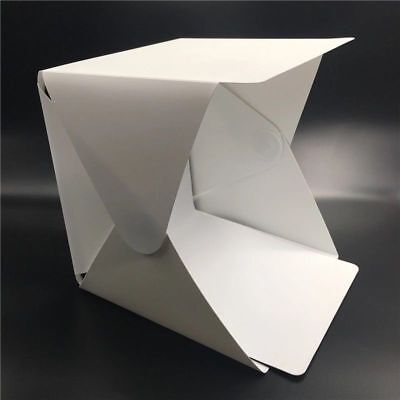 Box Foto Fotografico Led Foto Cubo Sfondo Nero Bianco Pieghevole Tenda Fotografi 3