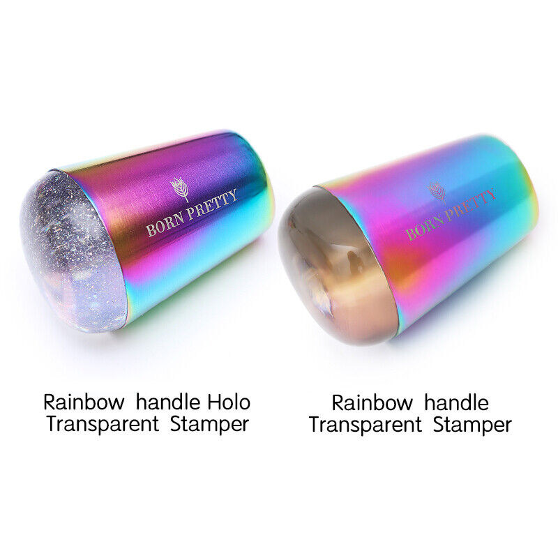 BORN PRETTY Holo  Handle Transparent Stamper for UV Gel Stamping Polish 2