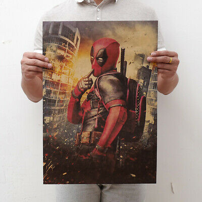 Avengers Deadpool Retro Kraft Paper Poster Cafe Bar Room Decor Painting Picture 2