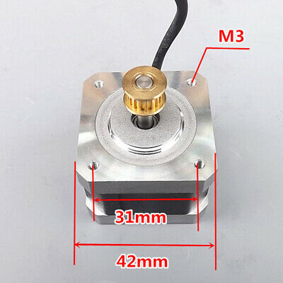 NEMA17 Stepper Motor 1.8 Degree 2-phase 4-wire Synchronous Pulley For 3D Printer 3