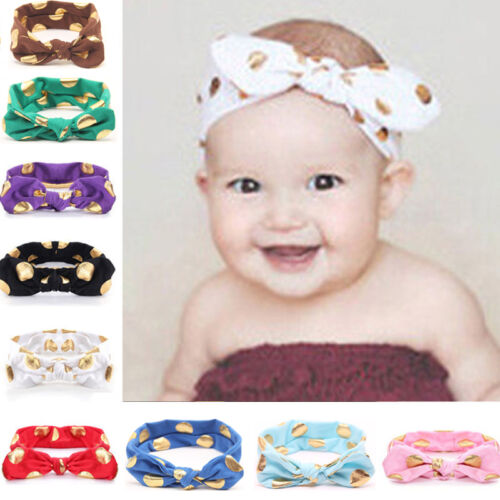 Gepunktet Stirnband Baby Mädchen Stirnband Haarband Kopfband Kopfschmuck Vintage Baby Accessoires