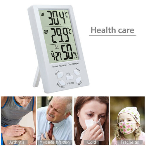 Indoor/Outdoor Thermometer Digital LCD Hygrometer Meter Temperature Humidity  IU 3