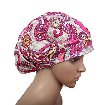 NEW Fowers Pattern Printing Scrub Cap Bouffant Medical Surgical Surgery Hat/Cap