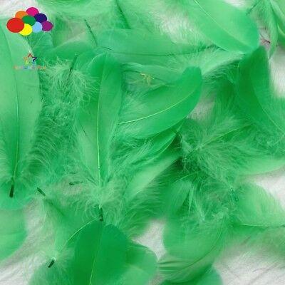 100pcs Natural Goose Feathers 8-12 Cm Swan Plume DIY Carnival Decoration Craft 11