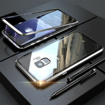 For Samsung Galaxy Note 9 Note 8 S9 S8 7 Magnetic Absorption Tempered Glass Case 12