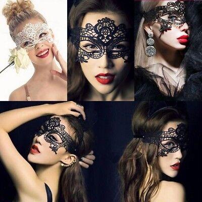 VENEZIANISCHE GESICHTSMASKE Augenmaske Karneval Fasching Spitze Spitzen Maske A
