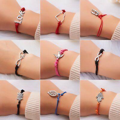 Wish String Charm Adjustable Bracelet 'Make A Wish' Friendship Heart Gift Card 3
