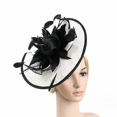 Feather Flower Hair Clip Women Vintage Fascinator Wedding Vintage Headpiece 7
