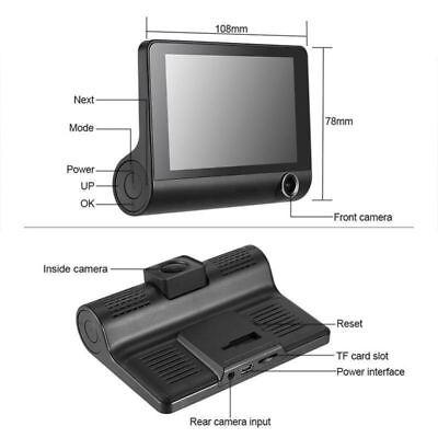 "1080P 4""Car DVR Dual Lens Dash Cam Front and G-sensor Rear Video Recorder Camera 9"