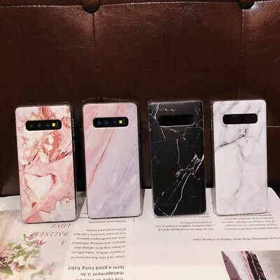 For Samsung Galaxy S10+ S10e S9 S8 Matte Marble Pattern Soft Silicone Case Cover 4