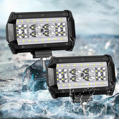"""2x 5"""" 168W LED Arbeitsscheinwerfer Offroad Scheinwerfer 12V mit Kabelbaum Relais 2"""