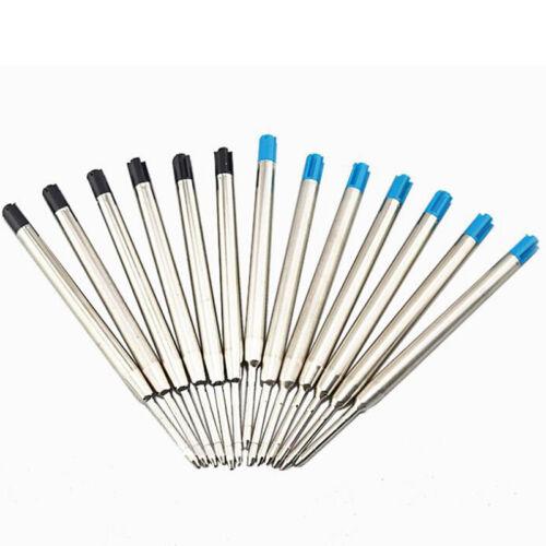 10Pcs Cross Type Kugelschreiber Minen Tinte Medium /& Schwarz Blau AA