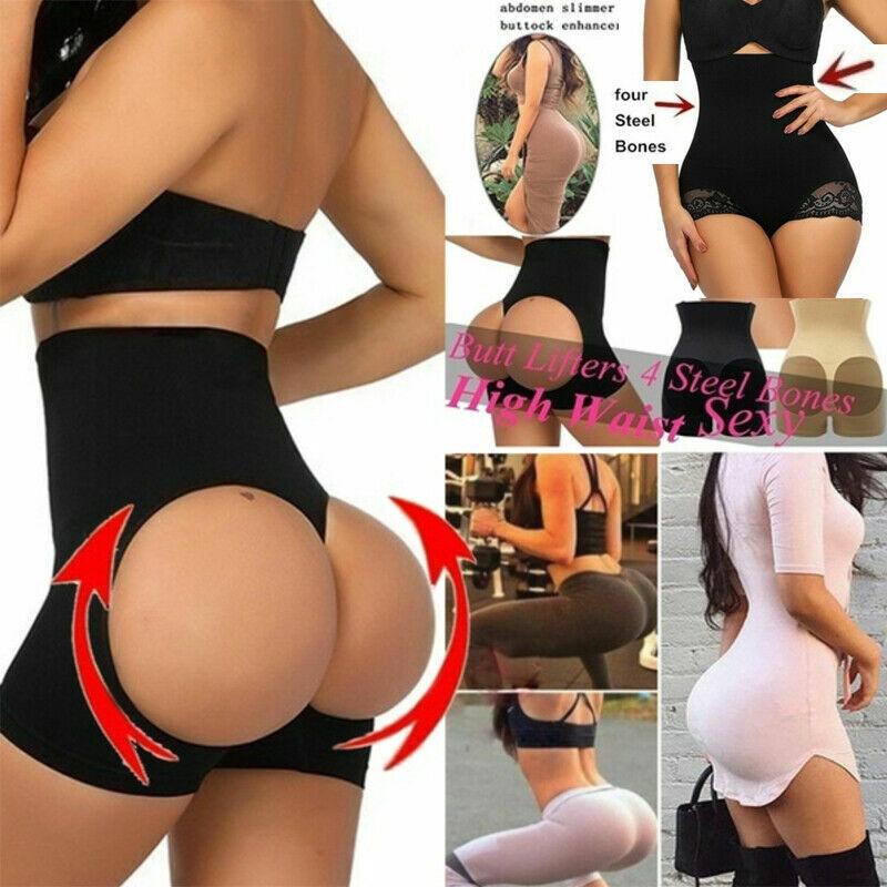 Women Slim Waist Trainer Cincher Body Shaper Panty Butt Lifter Underwear Corset 2