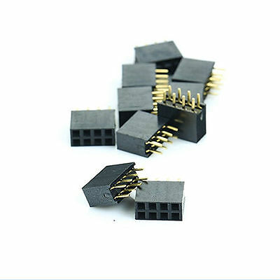 20PCS 2x4 Pin 8P 2.54mm doppelte Reihe weibliche gerade Header Pitch Sockel FT