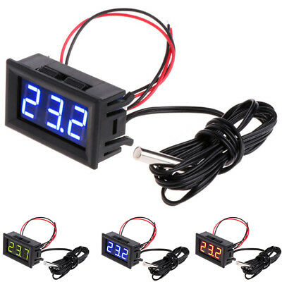 -50~110°C LCD Digital Auto Thermometer Gauge Temperaturanzeige Outdoor Home 3
