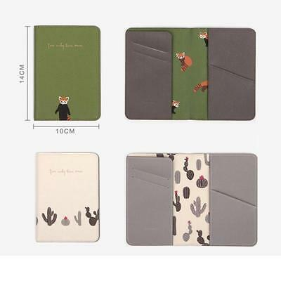 Animals Flower Faux Leather Passport Holder Cover Travel Wallet Organize Bag BS 10