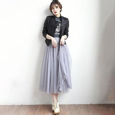 Fashion Multi Layers Skirt Womens Tutu Cocktail Party Dresses Tulle Skirts LG 3