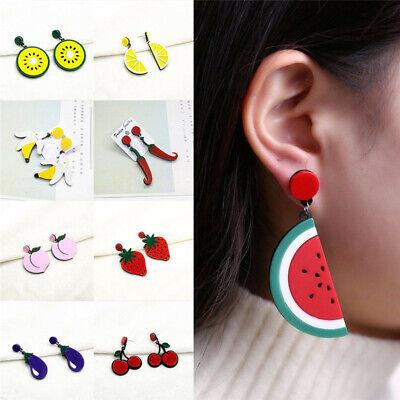 Fashion Women Delicious Fruit Acrylic Pendant Dangle Ear Studs Earrings Jewelry 4