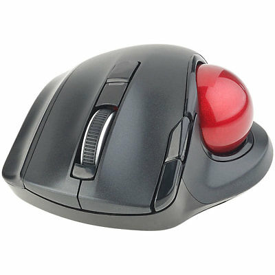 Funkmaus: Kabelloser Funk-Laser-Trackball mit 5 Tasten und Scrollrad, 1.200 dpi