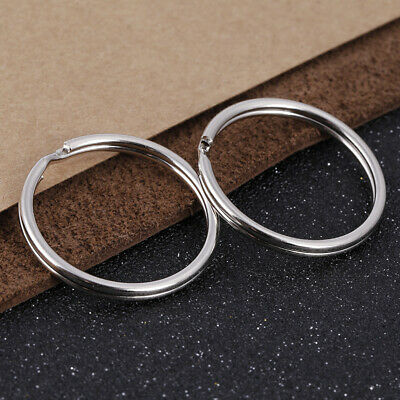Wholesale 4~35mm Key Rings Chains Split Ring Hoop Metal Loop Accessory Keyring 9