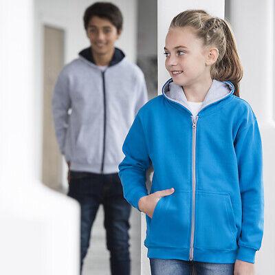 AWDis Just Hoods Kids Varsity Zoodie - Boys girls zipped hoodie|Ages 3-13 5