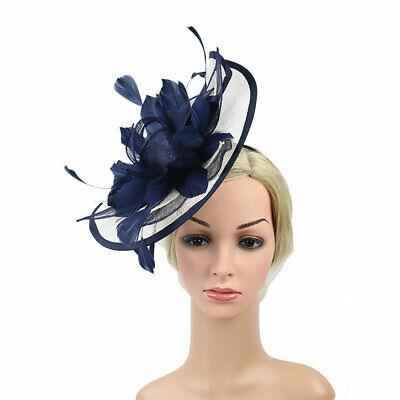 Feather Flower Hair Clip Women Vintage Fascinator Wedding Vintage Headpiece 10