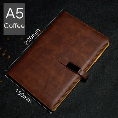 A5 PU Leather Vintage Journal Notebook Lined Paper Diary Planner with Buckle 11