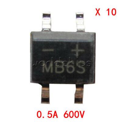 50Pcs MB6S 0.5A 600V Miniature Mini SMD Bridge Rectifier 9