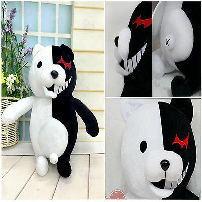"25cm/9.8"" Danganronpa Monokuma Black&White Bear Dangan Ronpa Soft Plush Toy Doll 2"