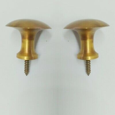 9 medium screw KNOBS pulls handles antique solid heavy brass drawer knob 30mm B 5
