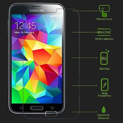Premium Real Tempered Glass Screen Protector Protective Film Cover For Samsung 5