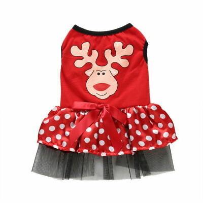 Cute Dog Puppy Christmas Santa Warm Costumes Coat Clothes Pet Apparel Shirt 9