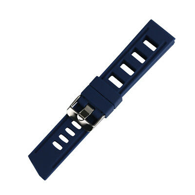 20/22mm Silicone Rubber Watch Band Strap Replacement Bracelet Spring Bars 5