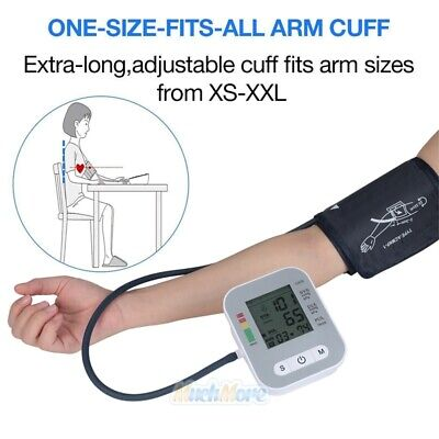Automatic Digital LCD Arm Cuff Blood Pressure Pulse Monitor Sphgmomanometer NEW 7