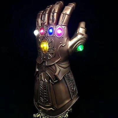 2019 Figure & LED Light Thanos Infinity Gauntlet Marvel Legends Gloves Avengers 2