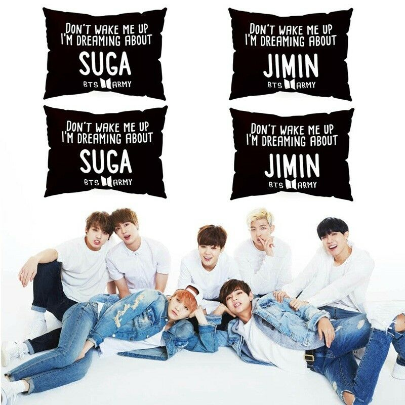 KPOP BTS Pillow Case DONT WAKE ME UP Rectangle Cushion Cover Home Decor