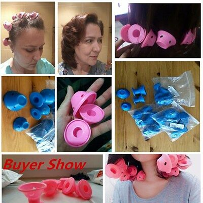 10x Silicone Magic Hair Curlers Formers Styling Rollers No Heat Clip DIY Tool