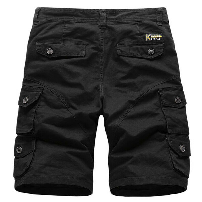 Mens Cargo Combat Work Shorts Trousers Army Military Hiking Camping Half Pants 9