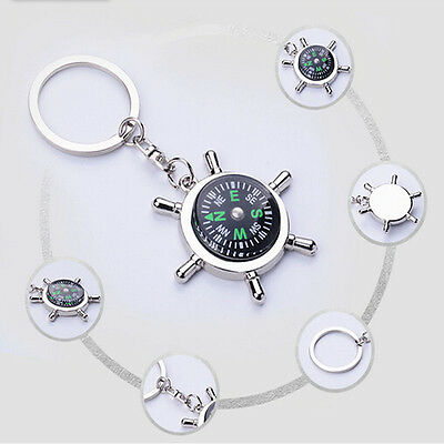 Unisex Fashion Compass Metal Car Keyring Keychain Key Chain Ring Keyfob 5